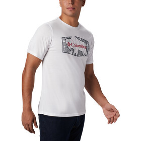 Columbia Terra Vale II T-shirt Heren, white roam hex